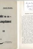Winke für die Gesangskunst, Maria Jeritza`s Gesangslehrer Herr Ausspitzer Sigmund Brünn 1901